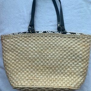Ann Taylor Tote • Fabric Lining • NWT